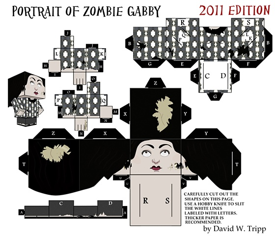 Portrait of Zombie Gabby: 2011 Edition