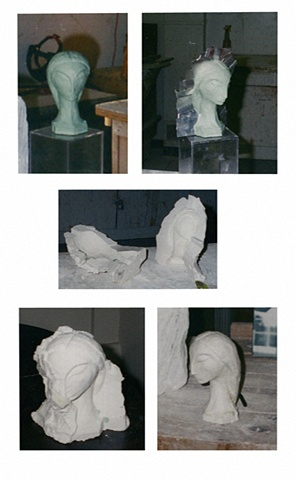 Maquette for stone sculpture  (Different Stages)