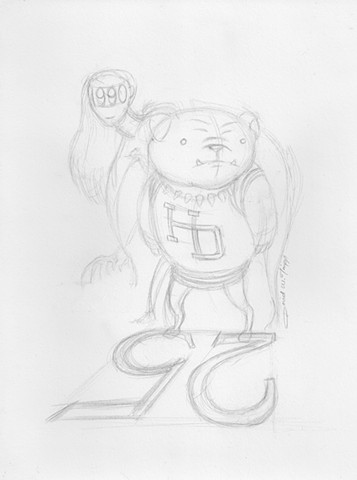 Sketch for Hall-Dale class of 1990 reunion logo