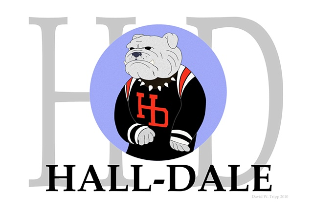 Hall-Dale Blue logo