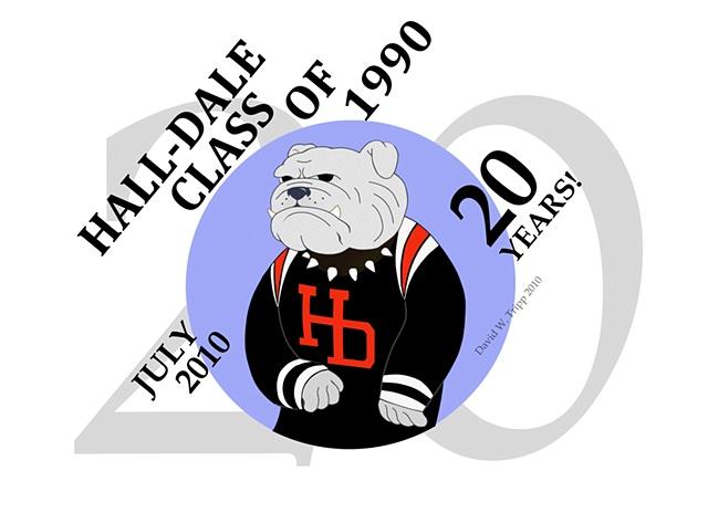 Hall-Dale 20th Anniversary Logo T-Shirt Image