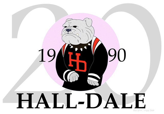 Hall-Dale 20th Anniversary Logo (Pink)