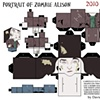 Portrait of Zombie Alison Papercraft Kit