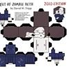 Portrait Of Zombie Beth Papercraft Kit