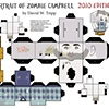 Portrait of Zombie Campbell Papercraft Kit