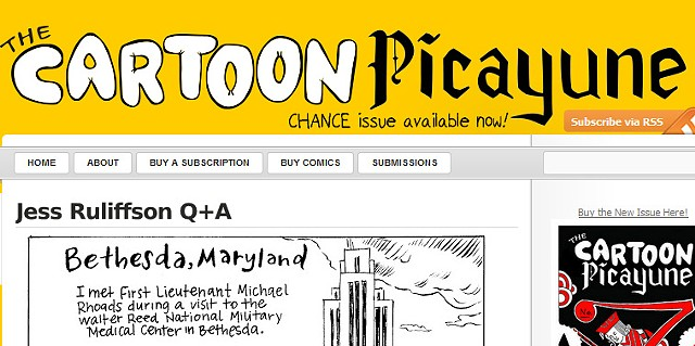 CARTOON PICAYUNE::Q + A With Jess Ruliffson
