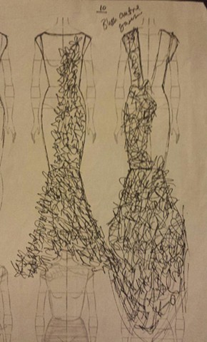 Sketch for Gown by Suzette Opara