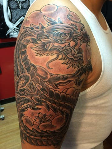 Dragon half sleeve!
