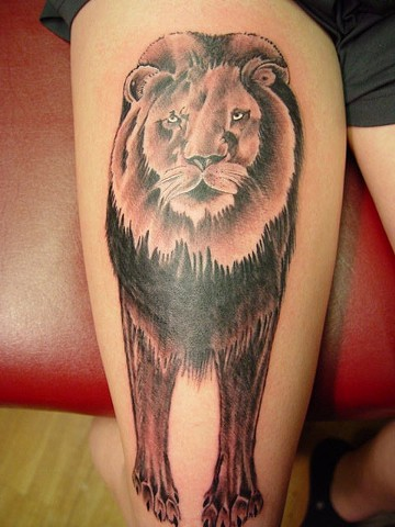 Lion, her first tattoo