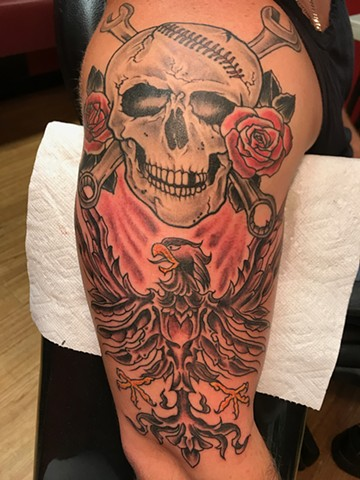 Added eagle to skull
