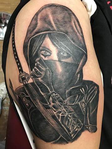 Woman's upper thigh. Done in one shot!