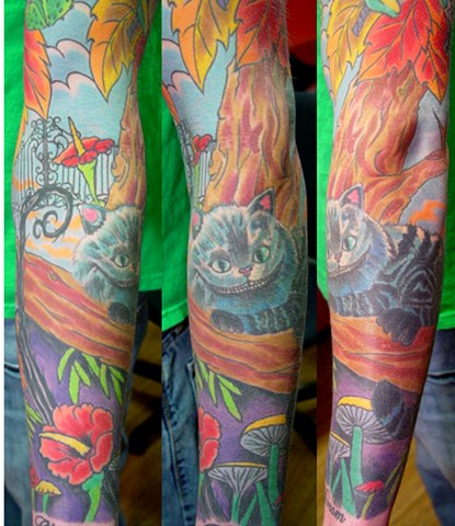 Cheshire cat sleeve