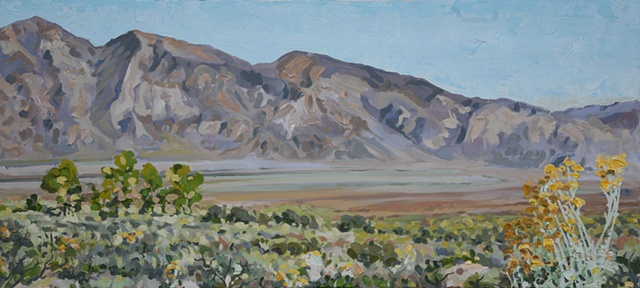 Owens valley, desert, California, White Mountains, original oil painting