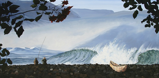 Fishing in a swell