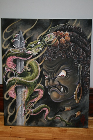"""""""Fudo"""" Acrylic on streched canvas"""