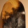 """Shiko moon"" Acrylic on skateboard deck $650 (SOLD)"
