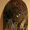 """Chasing"" Acrylic on Skateboard deck. $650 (SOLD)"