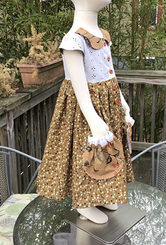 Brown Calico with Petticoat