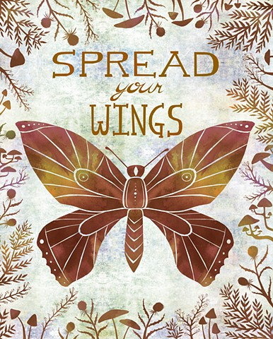 Spread Your Wings - Licensed with Oopsy Daisy