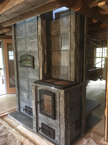 All of the outside corners were detailed with split face soapstone for a more rustic aesthetic.