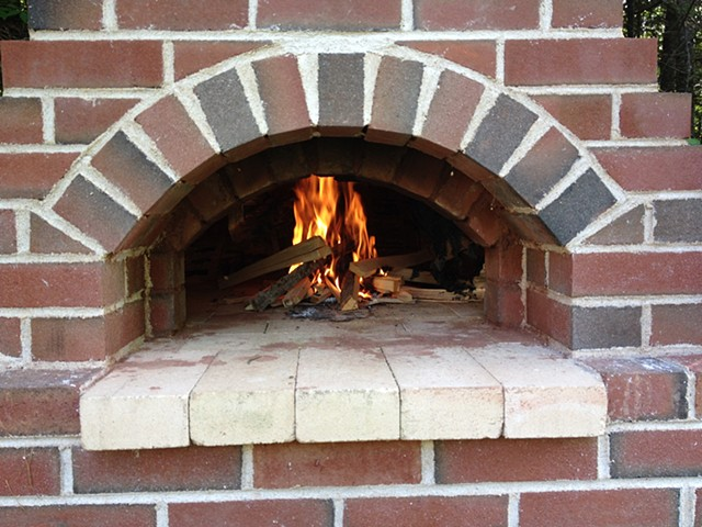 This oven was built with left over or salvaged materials.
