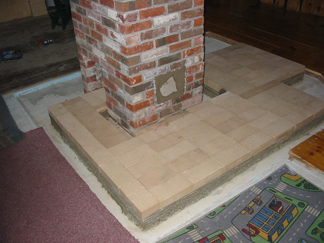 Danbury NH Masonry Heater construction sequence