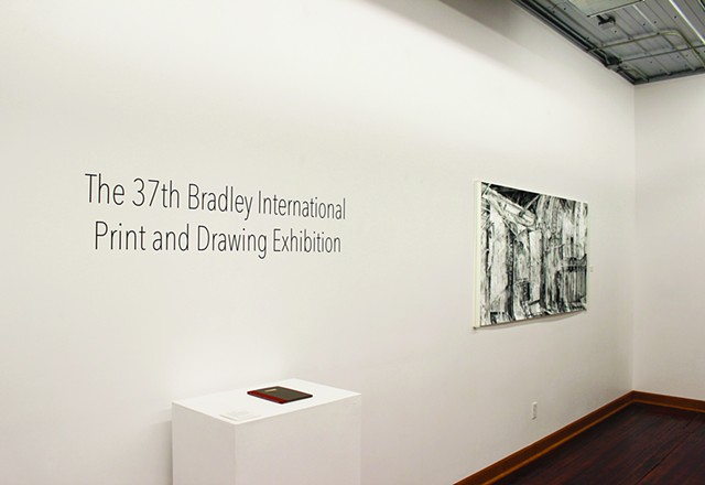 """Apocryphal"" installed at Prairie Center for the Arts / Bradley University"