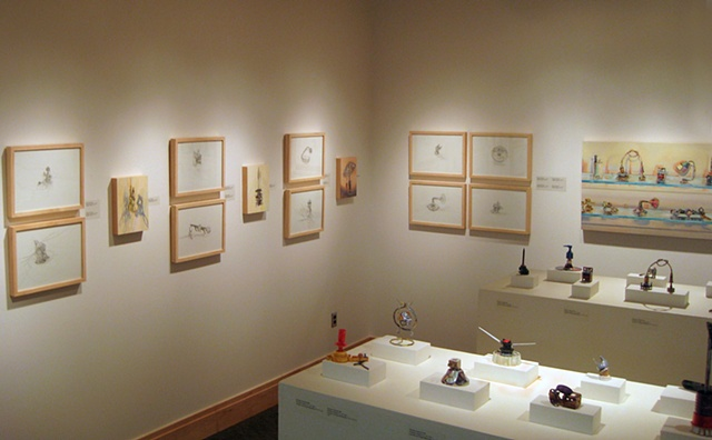 "Installation View ""Reconfigured Objects"" (solo) Penn State University--Altoona Sheetz Gallery"