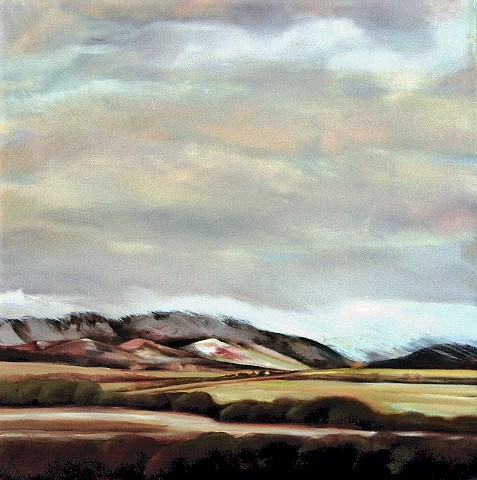 "*Dialog With The Wind* l Oil/line l 32""X32"" l Private Collection"