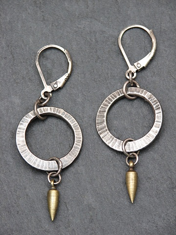 Sterling Mini Hoop Spike Earrings
