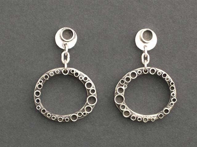 Bubble Oval Earring
