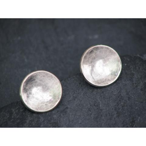 Silver Saucer Studs