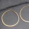 Vermeil Twisted Rope Hoop Earring