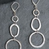 Egg and Circle Earrings