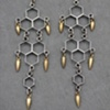 Sterling Honeycomb Spike Chandelier Earrings