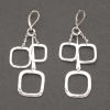 Triple Square Earring