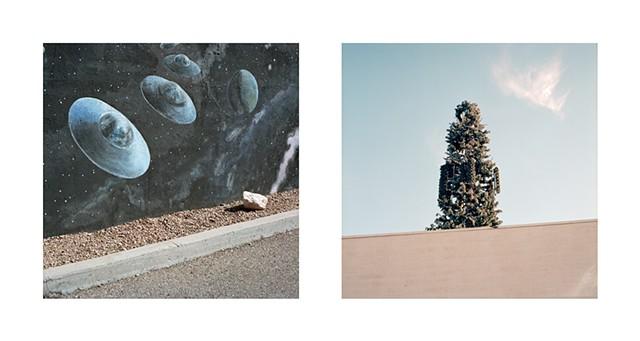 ufo, ufos, america, roadtrip, aliens, culture, visual antrhopology, usa, alien, film, medium format, road, roadside, americana, i want to believe, what was that, film is alove, grain, 120 mm, kodak portra, kodak, rollei sl66, analog, analogue