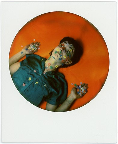 impossible project, color, film, analog, analogue, portrait, photography, by urizen freaza, round frame, letter, attack