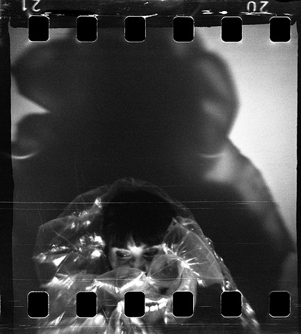 lego camera, 127 film, 35mm film analog, analogue, film, black and white, lego, toy camera, self-developed, scratches, lightleaks, portrait, bubbles, wrapping, plastic shine