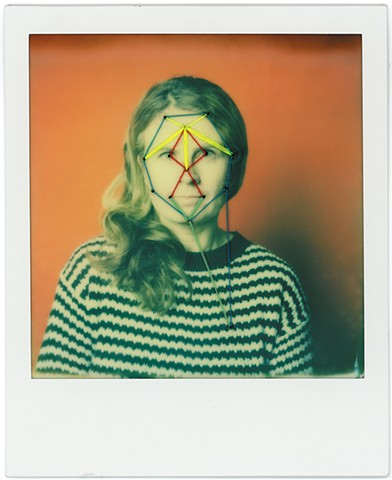 polaroid, impossible project, embroidery, embroidered polaroid, embroidered, instant film, film, portrait, analogue, film, analog, polaroid originals, impossible project