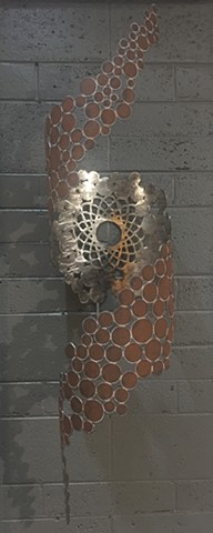 "Psychedelic Rust Spots (Wall Mount) 52""X12"""