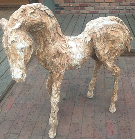 "Tan Colt (Rare Orginal Work) Mixed media 39""X39"" $8,500K"