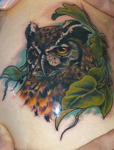 owl tattoo naked art tattoos odenton md