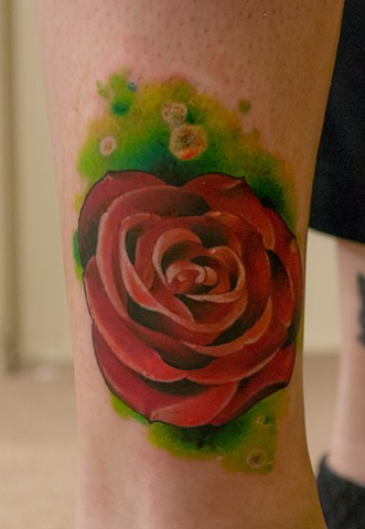 rose tattoo by chris lowe of naked art tattoos odenton maryland