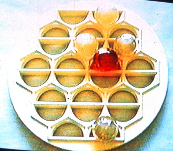 Jennifer McMackon, video still from Saturation Test, multimedia installation, Robert Birch Gallery, Toronto, 1997