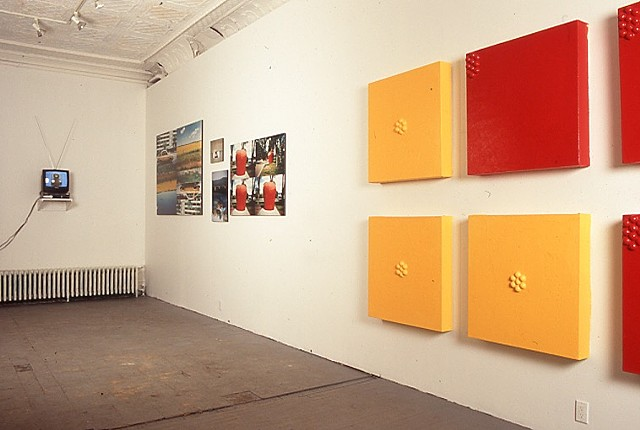 Jennifer McMackon, Cadmium Red and Yellow Saturation Test Paintings, Robert Birch Gallery, 1997