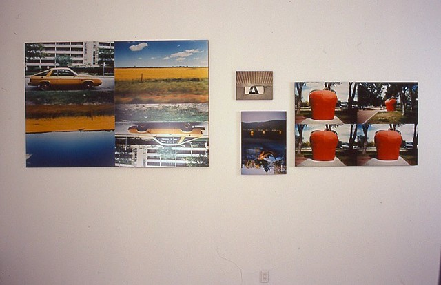 Jennifer McMackon, Saturation Test Photographs, detail from the installation, Robert Birch Gallery, 1997