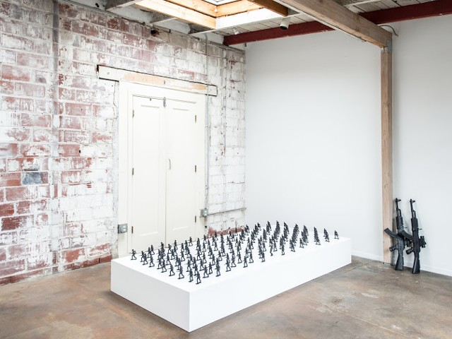 carolyn jean martin, toy soldiers, Interface gallery, art