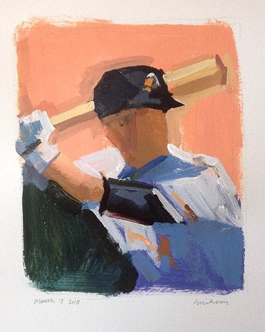 Baseball figure painting