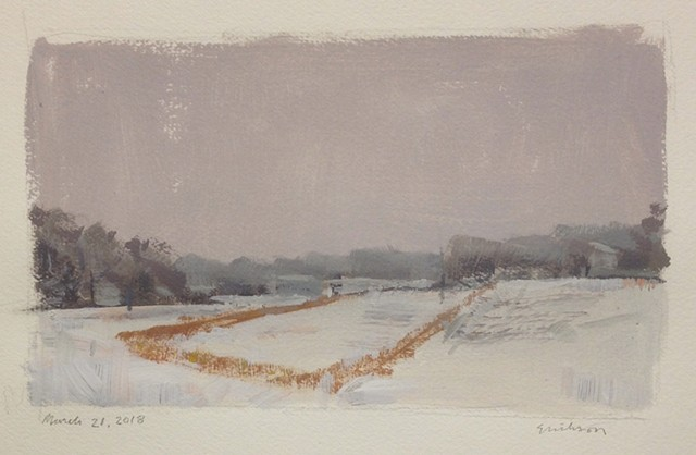 Spring Snow, Wallace Farm